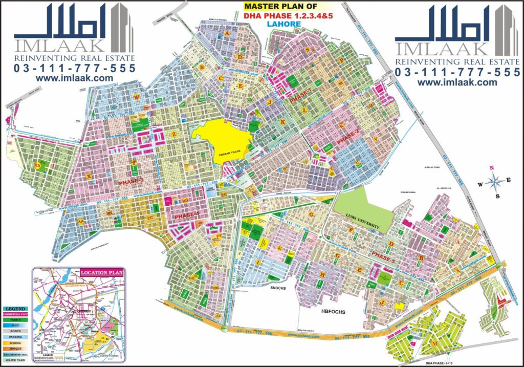 dha lahore map phase 5