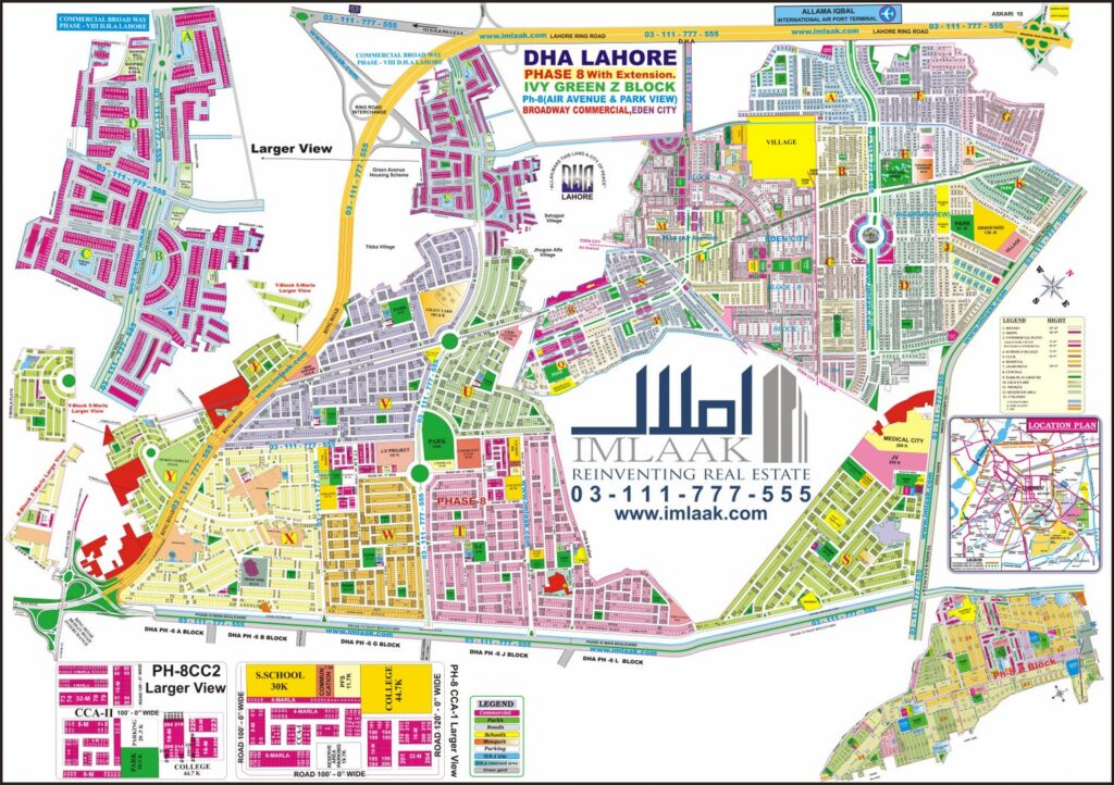 DHA Lahore Map Phase 8 Proper