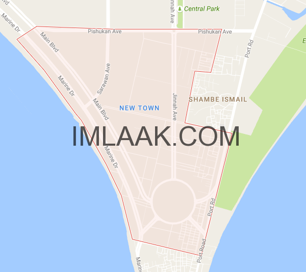 new town map gwadar