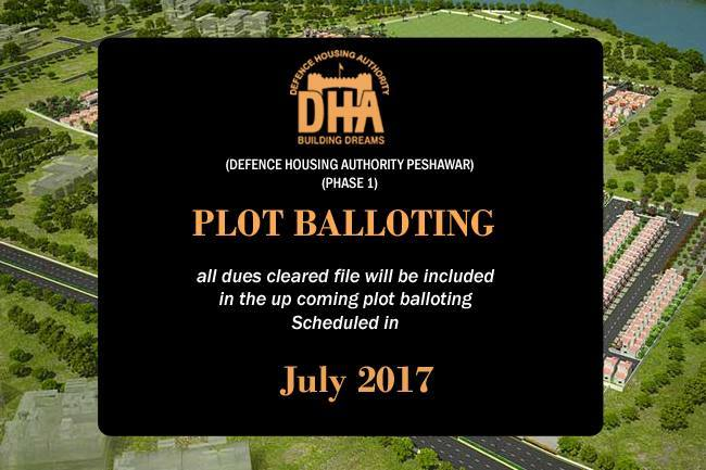 DHA Peshawar Announces Plot Balloting