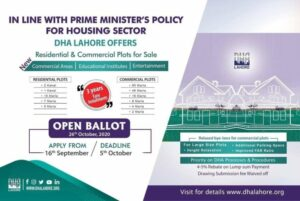 DHA Lahore Asset Ballot 2020